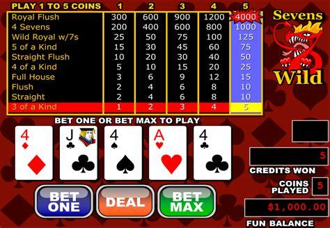 play sevens wild video poker  rtg