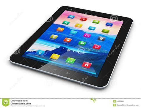 mobile tablet pc tablet computer royalty free stock photos image 34659488