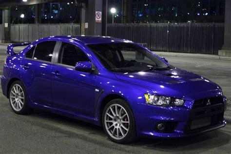 purple mitsubishi lancer jon frost s car