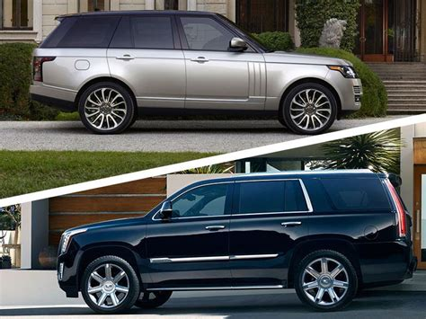 2017 Cadillac Escalade Configurations by 2017 Cadillac Escalade Vs 2017 Range Rover Which Is Best