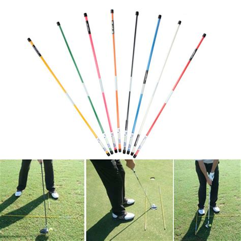 stick swing 1 pair golf alignment sticks swing tour training aid