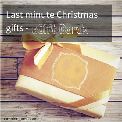 Last Minute Christmas Gift Cards - last minute christmas gifts egift cards bargain mums