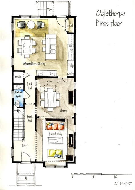 hand drawing plans arqutectura pinterest hand