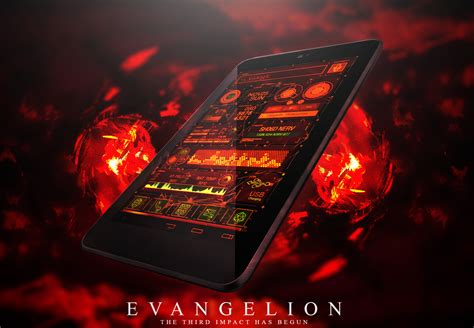 computer themes for android mobile hd evangelion nerv sh06d theme android by thenbt on