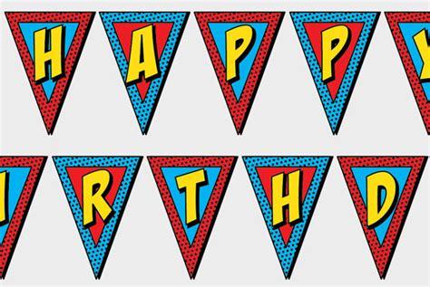 printable superman banner printable superhero happy birthday banner party comic sound