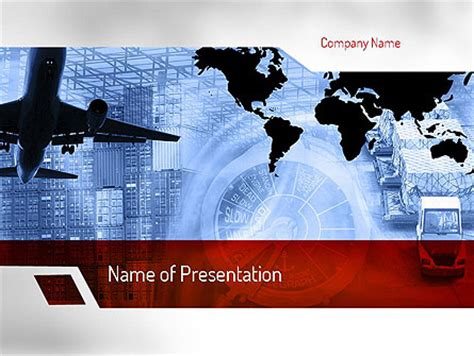 template powerpoint logistics logistics services presentation template for powerpoint