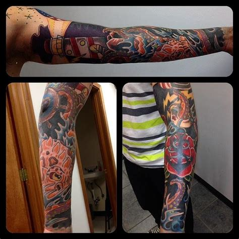 nautical tattoo sleeve by artworkbymatward on deviantart