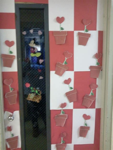 door decorations for valentines s classroom door decorations growing hearts