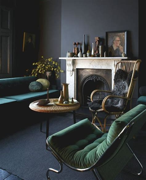 dark green living room 30 green and grey living room d 233 cor ideas digsdigs