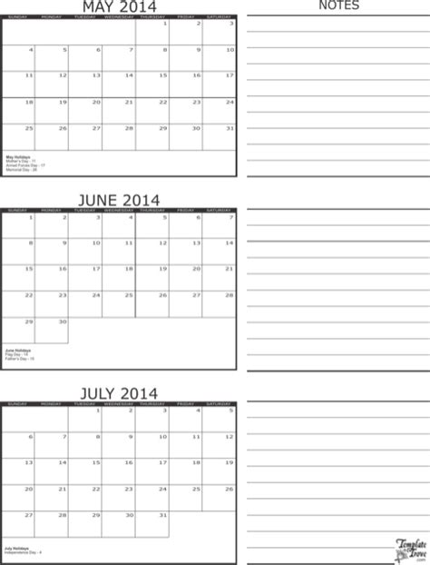 3 month calendar template excel monthly calendar template for excel pdf and word
