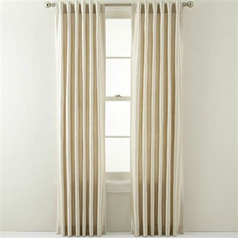 jcpenney silk curtains 17 best ideas about pinstripe curtains on pinterest