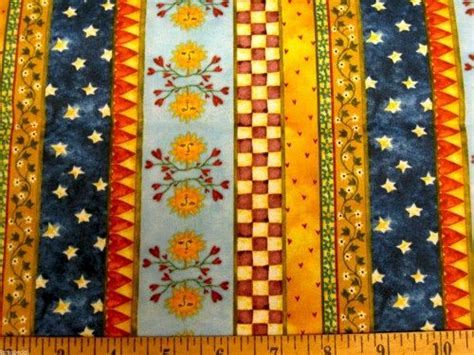 Border Fabric For Quilts by Cotton Quilt Fabric Home Sweet Home Stripe Border Suns