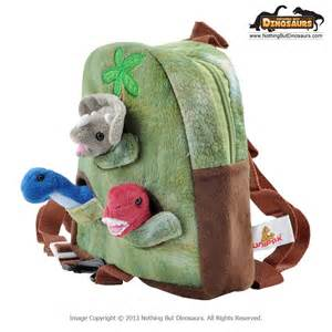 Small Pack N Play Unipak Kids Soft Dinosaur Leash Backpack Bag Animal Window