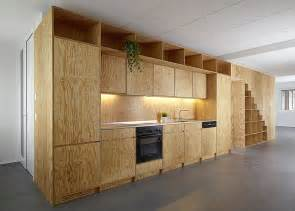 Kitchen Island Space plywood built in furniture by big game