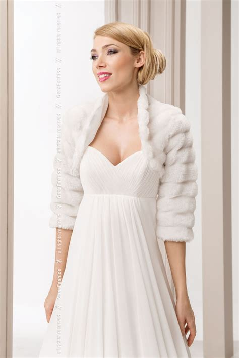white bolero jacket wedding wedding white faux fur shrug bridal bolero jacket coat s m