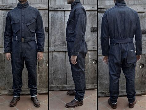 Motorrad Overall by Vintage Overall Custom Motorcycle 14oz Caferacer Cafe