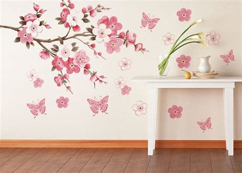 blossoms bedroom cherry blossom flower bedroom room vinyl decal home decor wall sticker big 60 90cm diy free