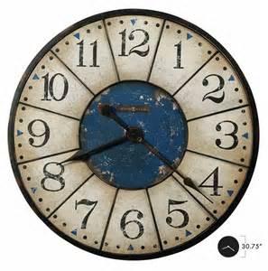 big wall clocks 625567 balto howard miller oversized vintage worn blue