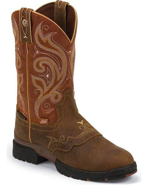 george strait boots justin george strait collection orange waterproof