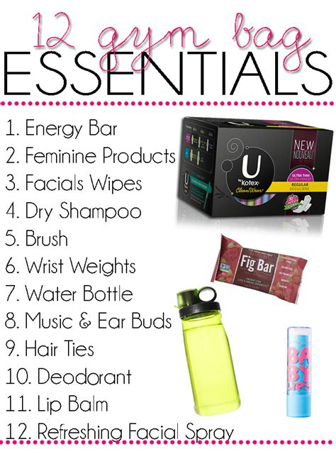 what to keep gym bag essentials hairspray and highheels