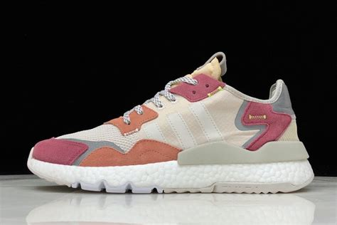 adidas nite jogger  boost  greylight pink red white