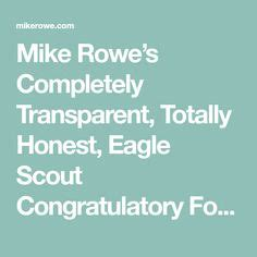 Example recognition request letter   Boyscouts   Pinterest ... Eagle Congratulatory Letter Request Mike Rowe