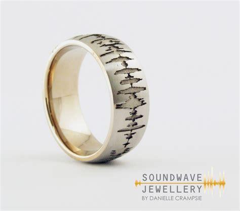 Custom Wedding Rings by S Custom Soundwave Ring Soundwave Jewellery
