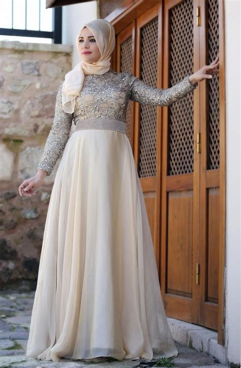 model long dress bahan brokat  membuat tampilan