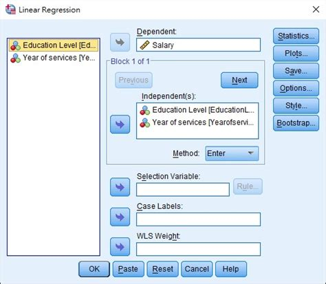 spss excel multiple regression