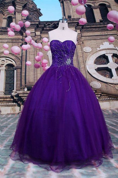 Blue Sky Quinze Dress gown purple quinceanera dresses beading by