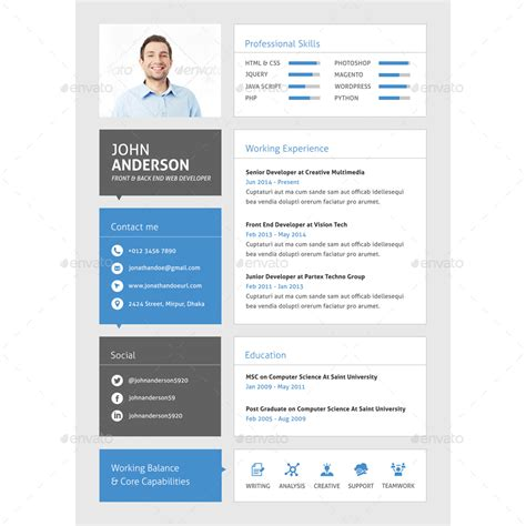 Web Developer Cv Template by 30 Best Developer Software Engineer Resume Templates