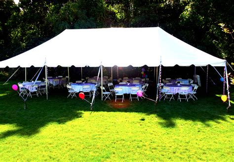 rent a tent for backyard party chance of showers backyard birthday party photo of tent
