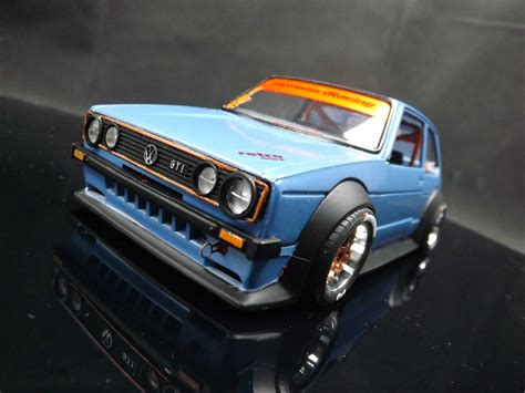 volkswagen golf mk1 modified 1 24 custom modified mk1 volkswagen vw golf gti racing