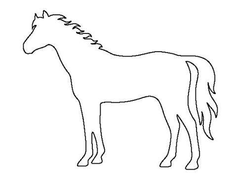 printable stencils of horses horse pattern use the printable outline for crafts