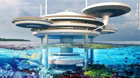 underwater bedroom in maldives space age underwater hotel to be built cnn com