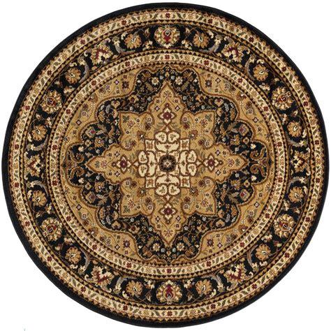 Tayse Rugs Elegance Black 7 Ft 10 In X 7 Ft 10 In 7 Foot Rugs