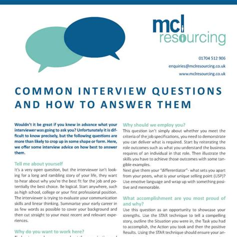 mcl resourcing s common questions and how to answer them mcl resourcing