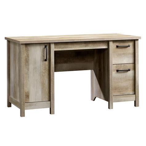 sauder beginnings cinnamon cherry desk with storage 408726