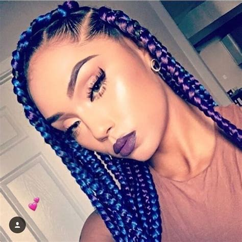 color braids 5 blue and black box braids pictures new hairstyles