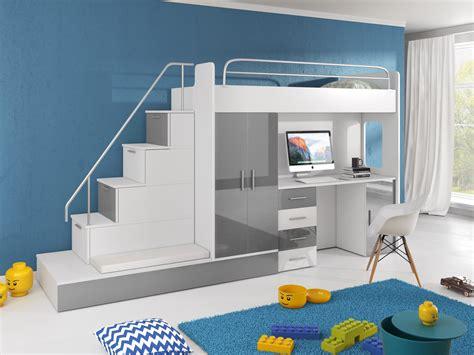 hochbett jugendzimmer mit schreibtisch hochbett tomi mit schreibtisch schrank und regal m 246 bel