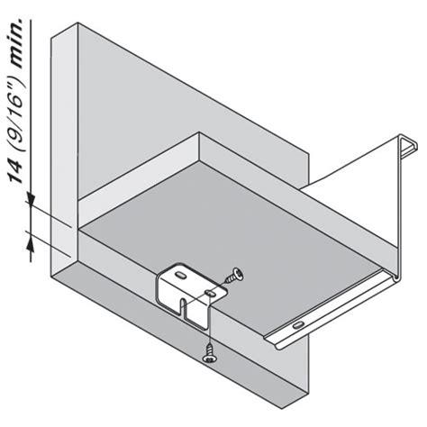 Blum Metabox Drawer System by Blum Zsb 0090 01 Metabox Center Support Bracket For Wide Drawers