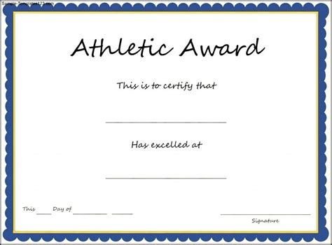 sports award templates certificate sle for sports gallery certificate design