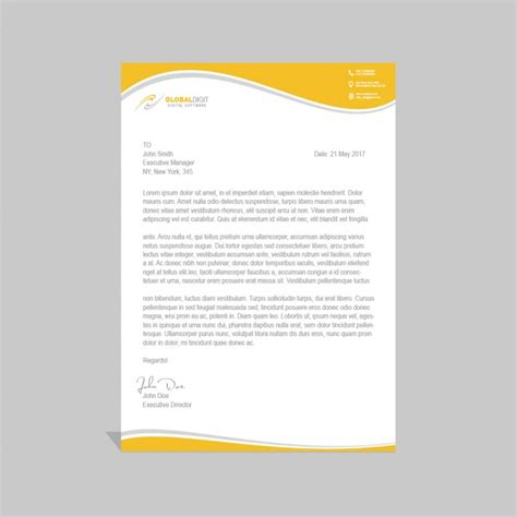 letterhead template psd corporate psd letterhead template psd file free