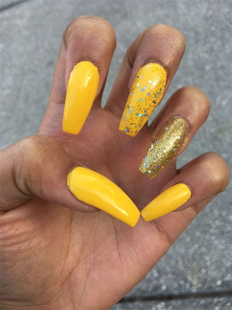 nails designs yellow acrylic and white yellow gold coffin nails the yellow is to die for