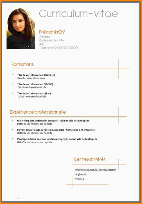 Resume Format Sample Word Doc by Model Cv