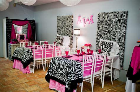 Decorating Ideas Zebra Print Birthday Pink And Zebra Print Daytime Slumber The