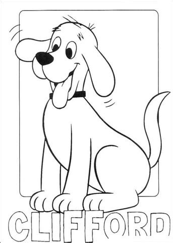clifford coloring pages halloween picture of clifford coloring page supercoloring com