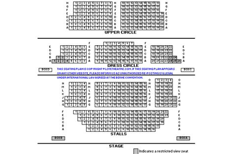 st theater seating plan st martins theatre venue information lovetheatre