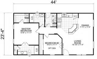 Two Bedroom Two Bath Floor Plans by Little House On The Trailer Home 24 X 44 2 Bed 2 Bath