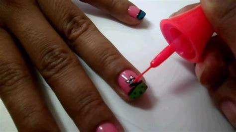 imagenes de uñas decoradas con gatos 10 decorado de u 241 as carita gato colorido youtube
